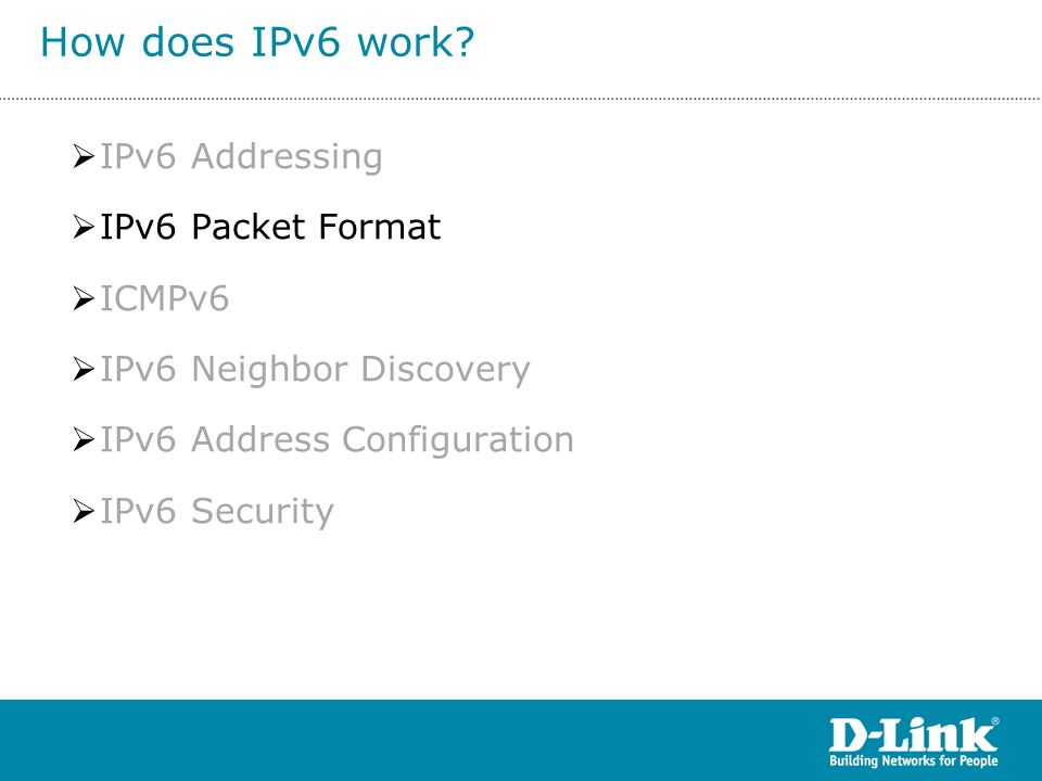 How does IPv6 work IPv6 Addressing IPv6 Packet Format ICMPv6