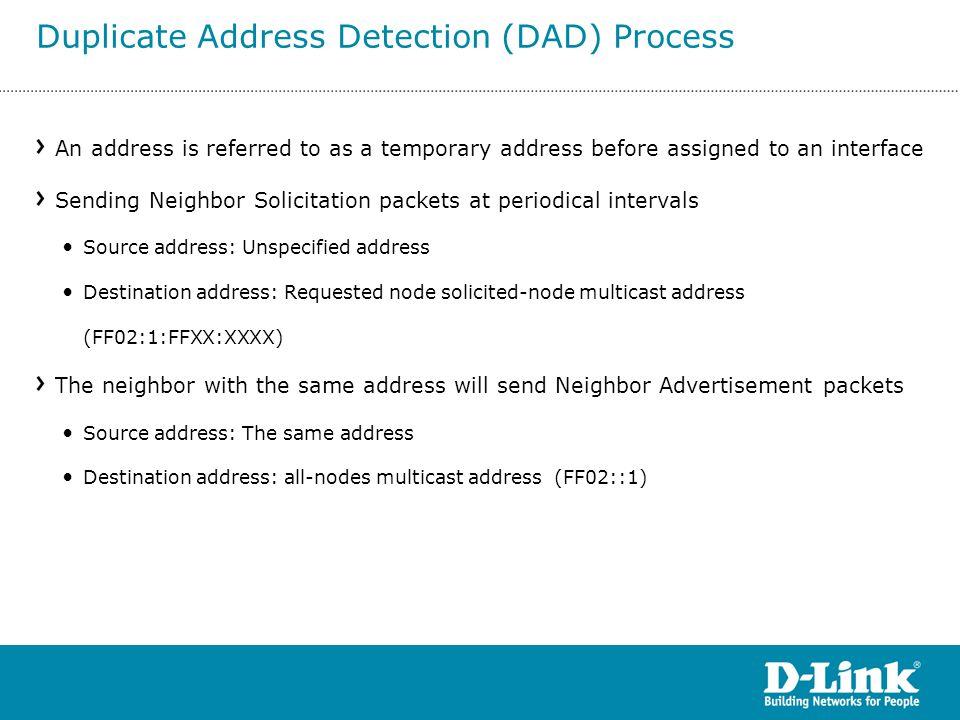 Duplicate Address Detection (DAD) Process