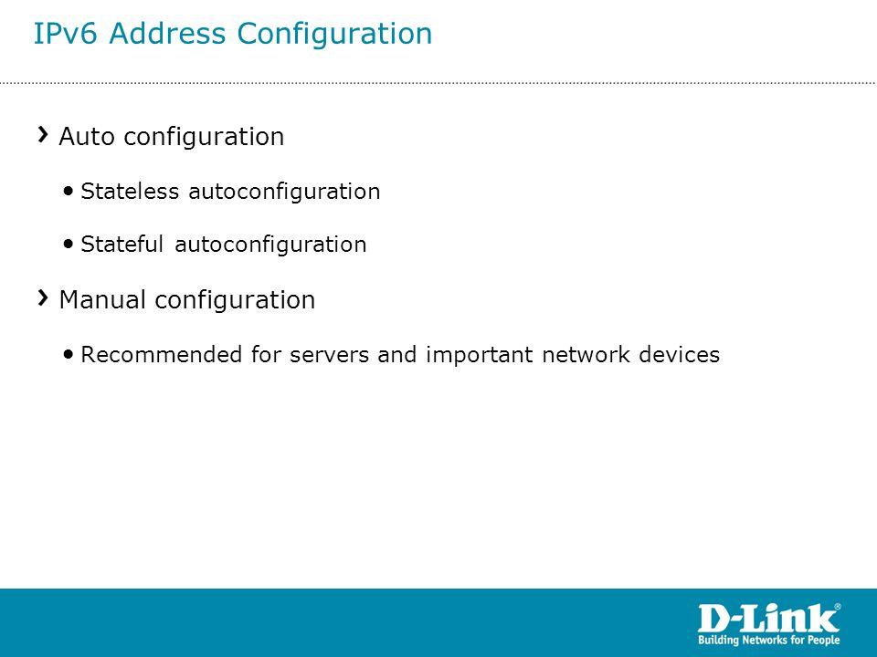 IPv6 Address Configuration
