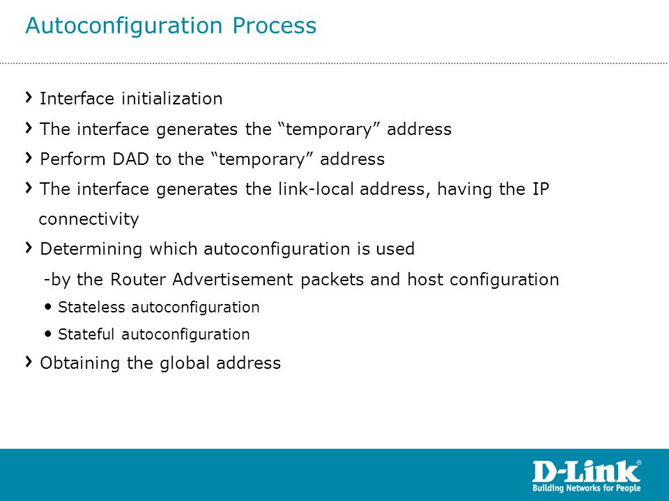 Autoconfiguration Process