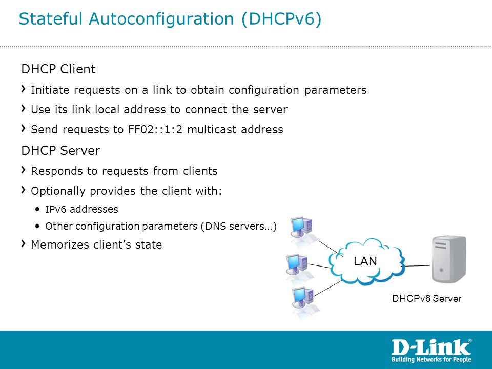 Stateful Autoconfiguration (DHCPv6)