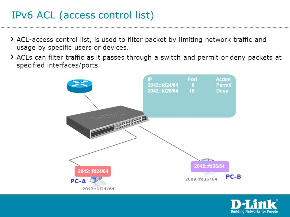 IPv6 ACL (access control list)