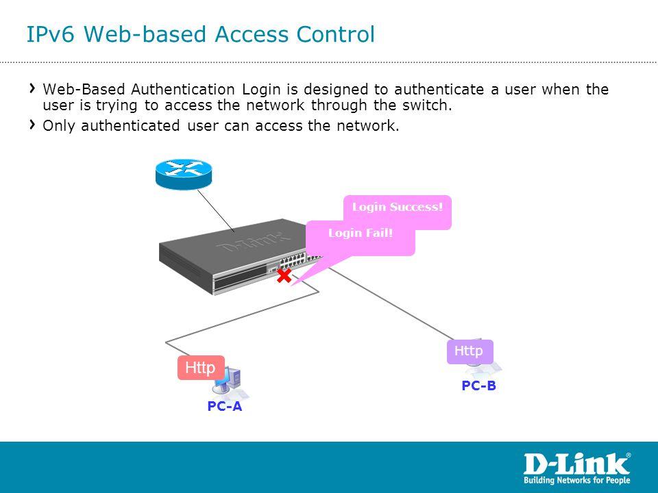 IPv6 Web-based Access Control