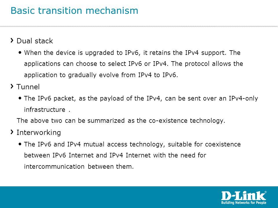 Basic transition mechanism