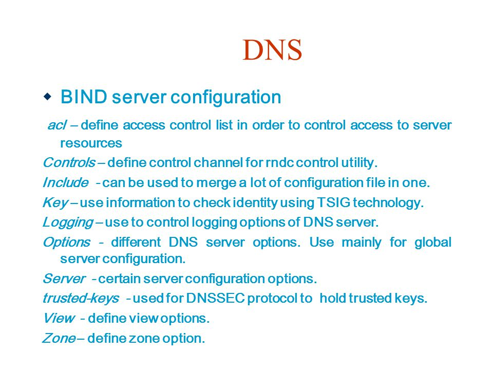 DNS BIND server configuration