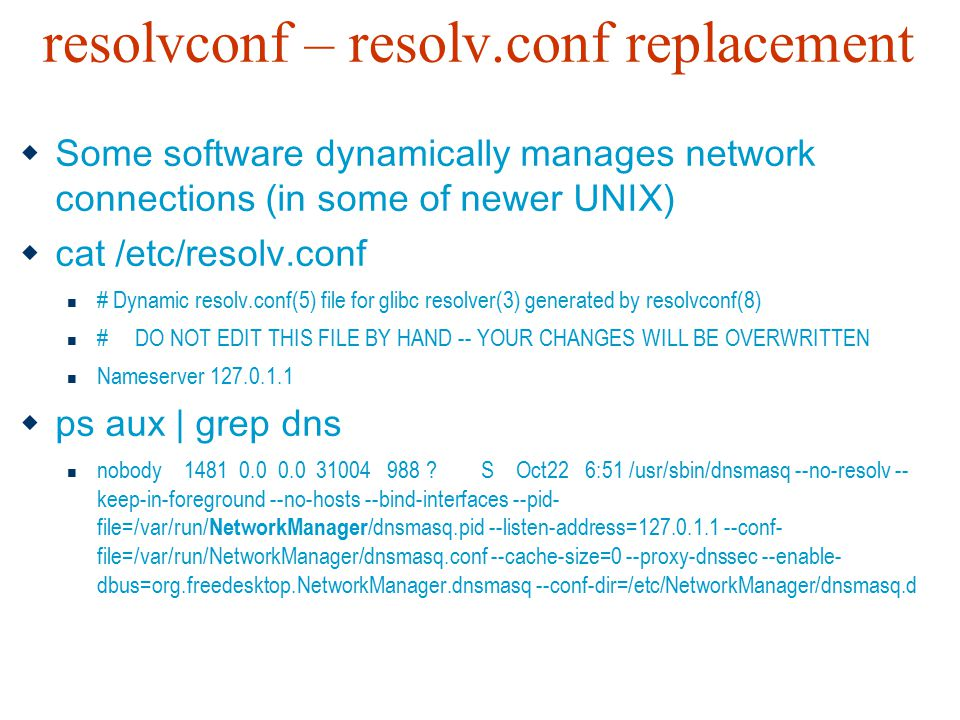 resolvconf – resolv.conf replacement