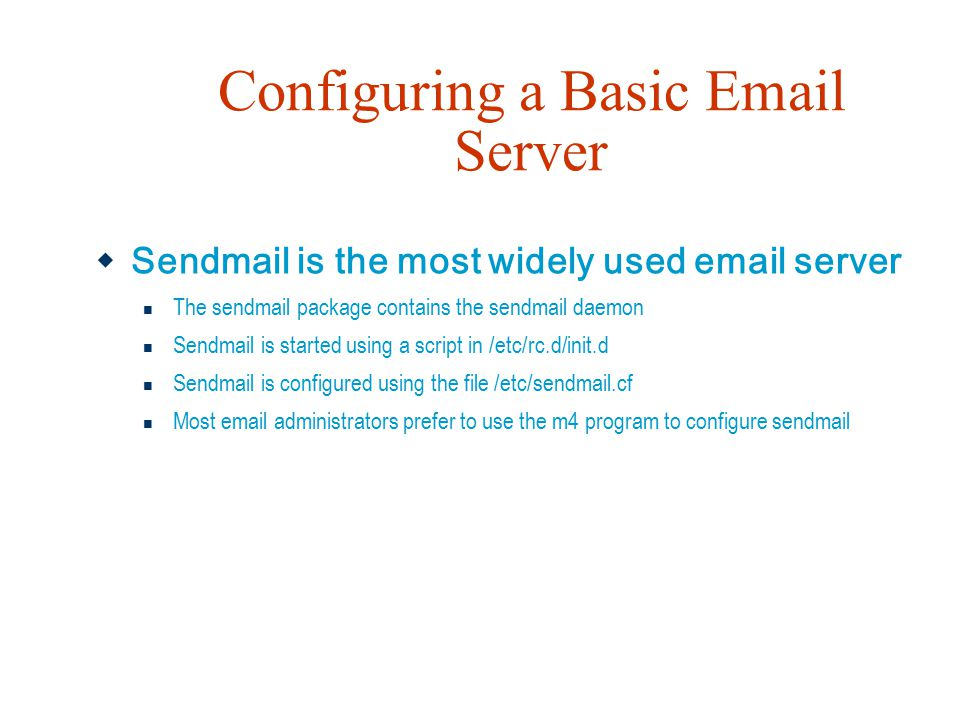 Configuring a Basic Email Server