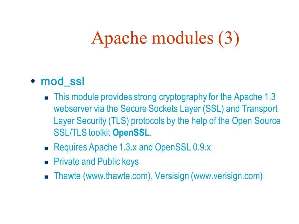 Apache modules (3) mod_ssl