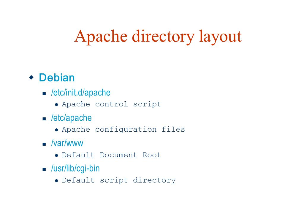 Apache directory layout