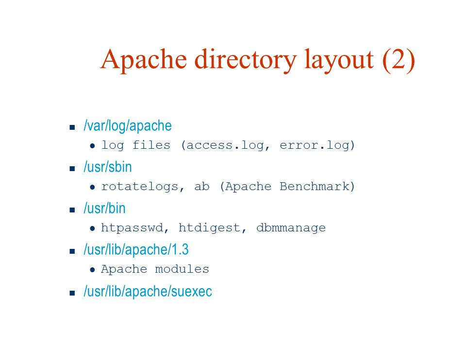 Apache directory layout (2)