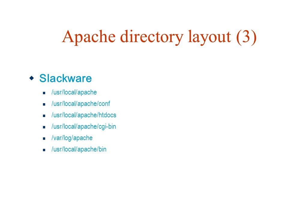 Apache directory layout (3)
