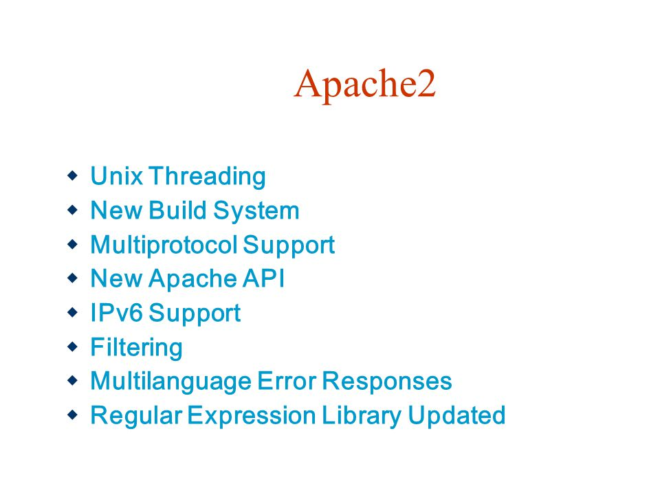 Apache2 Unix Threading New Build System Multiprotocol Support