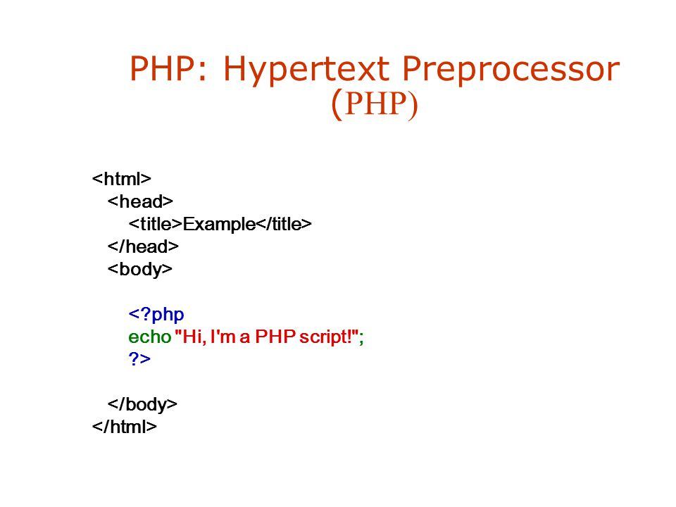 PHP: Hypertext Preprocessor (PHP)