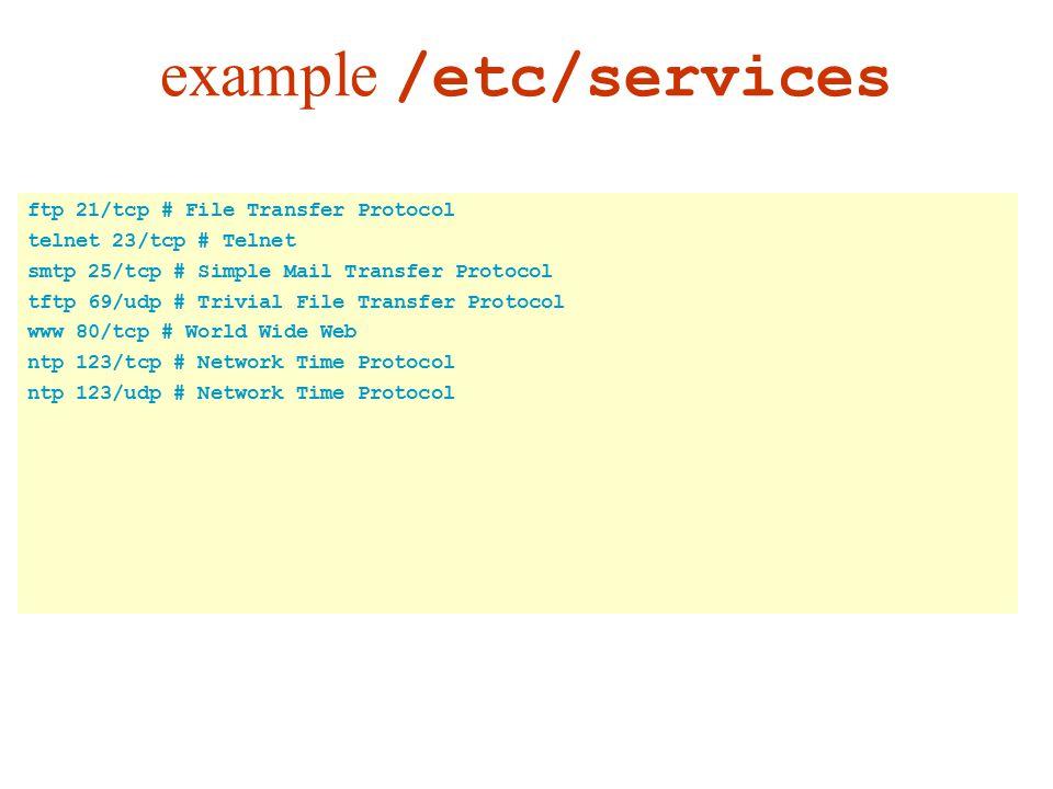 example /etc/services