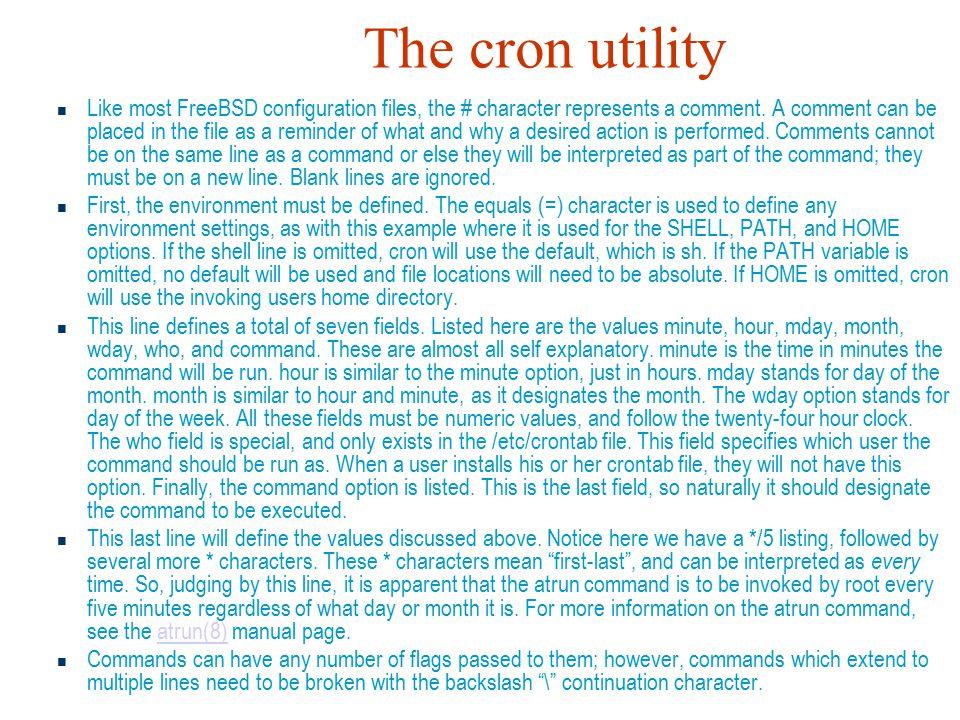 The cron utility