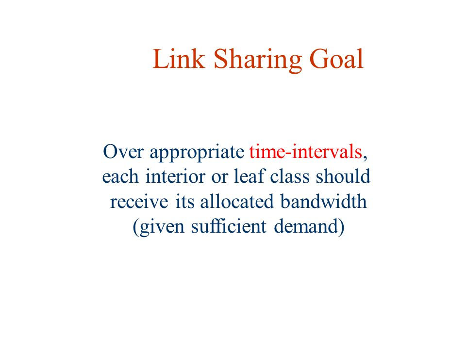 Link Sharing Goal Over appropriate time-intervals,