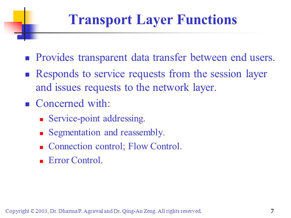 Transport Layer Functions