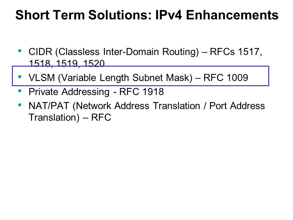 Short Term Solution : Ch introduction to classless routing ppt download