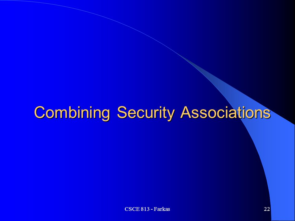 Combining Security Associations