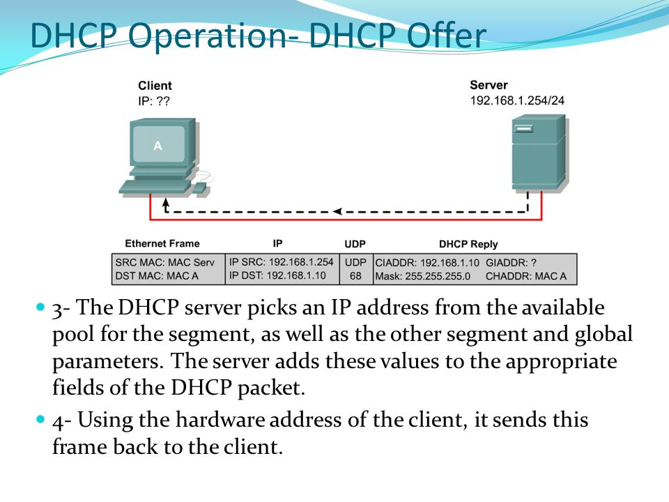 DHCP Operation- DHCP Offer