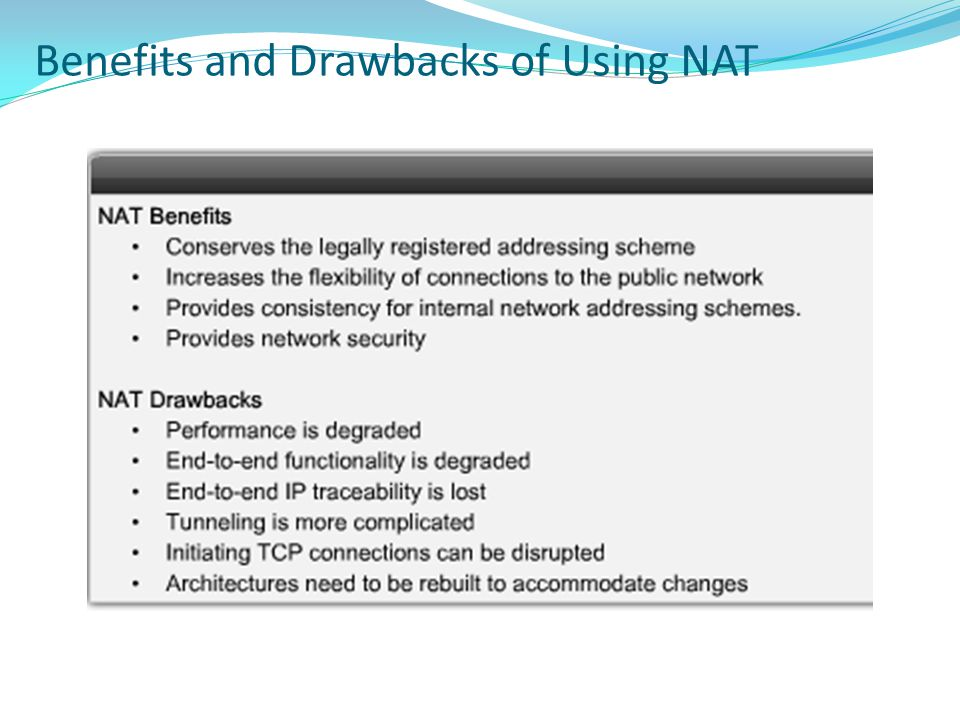 Benefits and Drawbacks of Using NAT