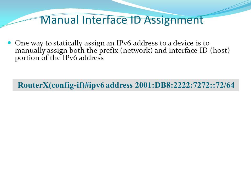 Manual Interface ID Assignment
