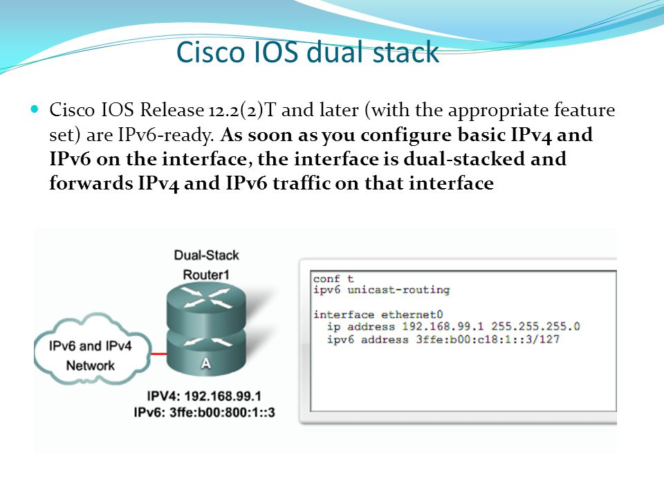Cisco IOS dual stack