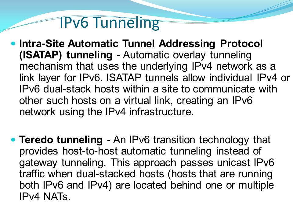 IPv6 Tunneling