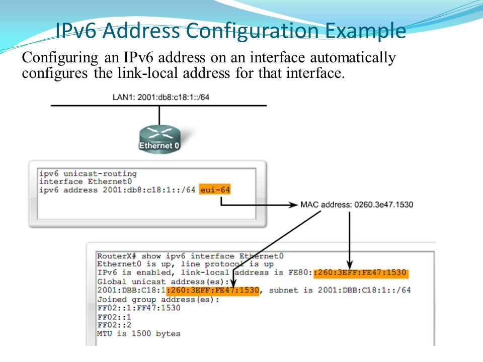 IPv6 Address Configuration Example