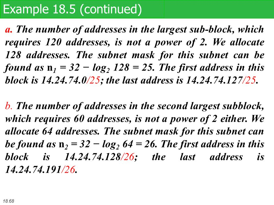 Example 18.5 (continued)
