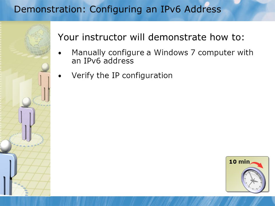 Demonstration: Configuring an IPv6 Address