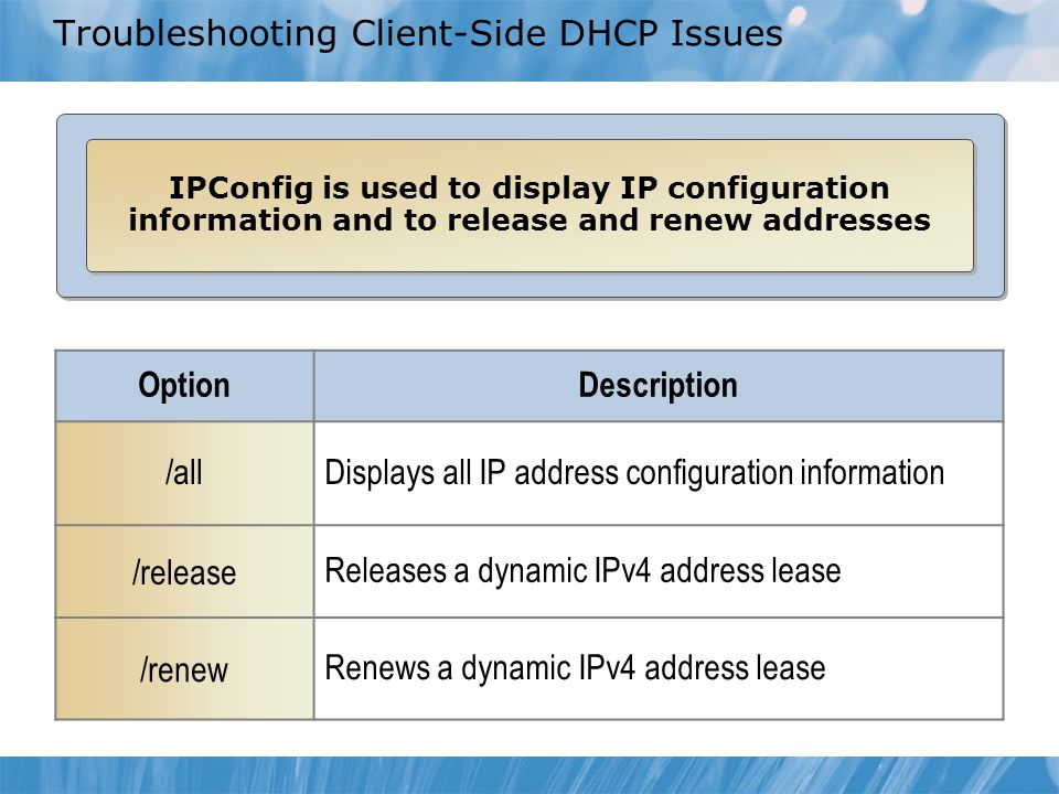 Troubleshooting Client-Side DHCP Issues