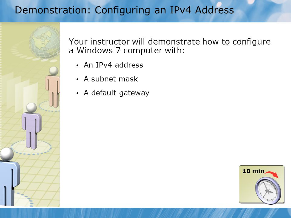 Demonstration: Configuring an IPv4 Address