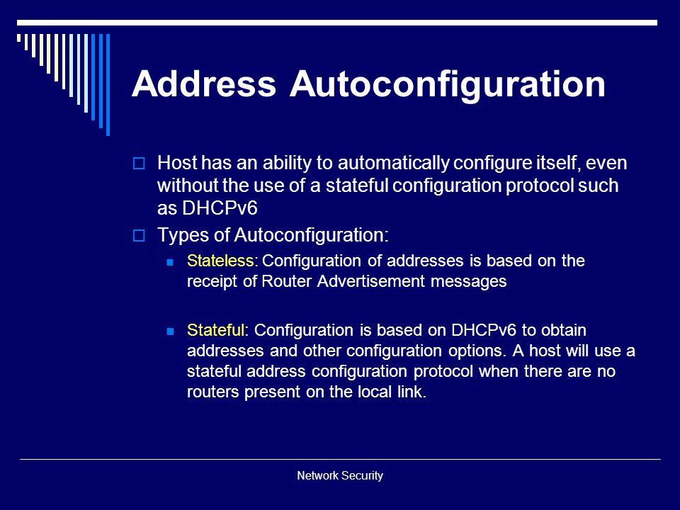 Address Autoconfiguration