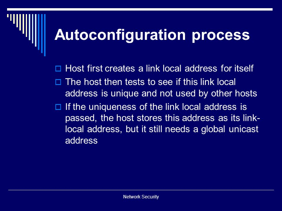 Autoconfiguration process