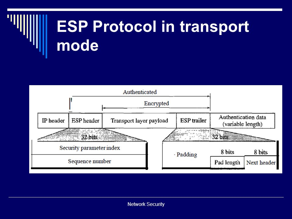 ESP Protocol in transport mode