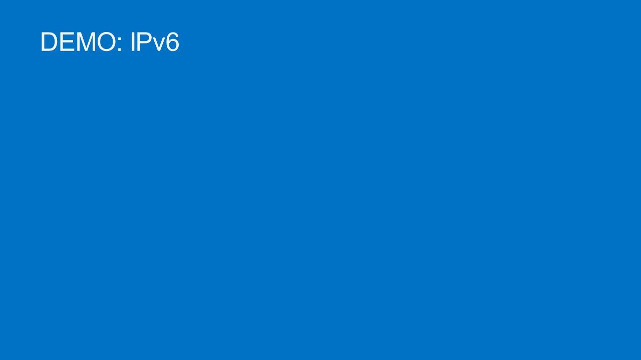 DEMO: IPv6