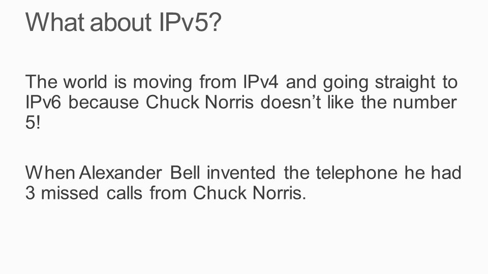What about IPv5