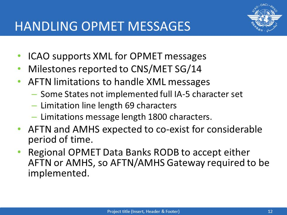 HANDLING OPMET MESSAGES