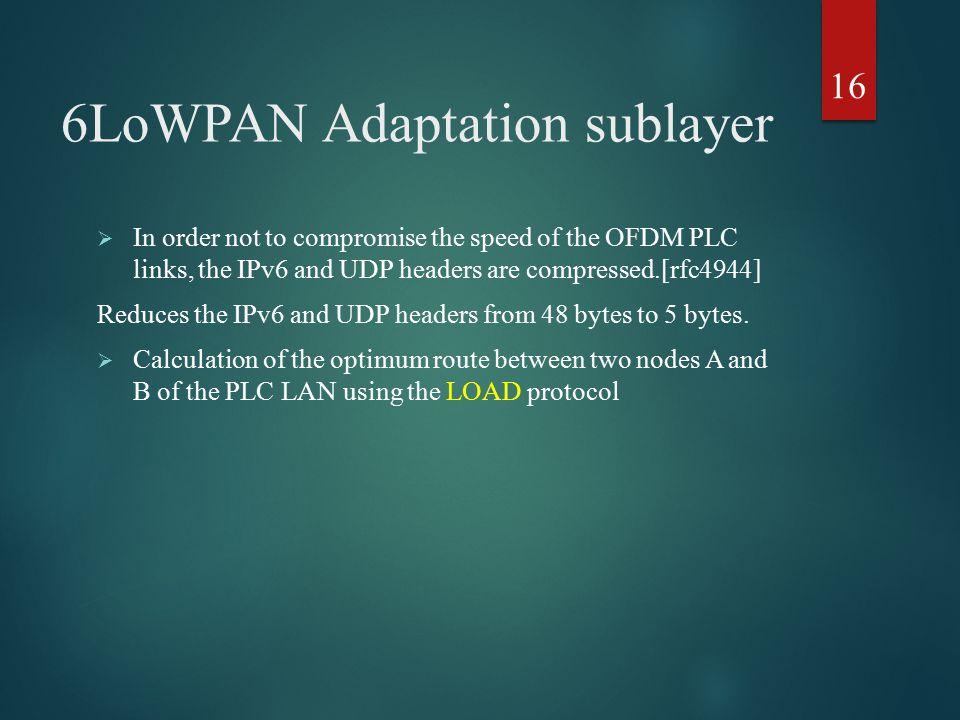 6LoWPAN Adaptation sublayer