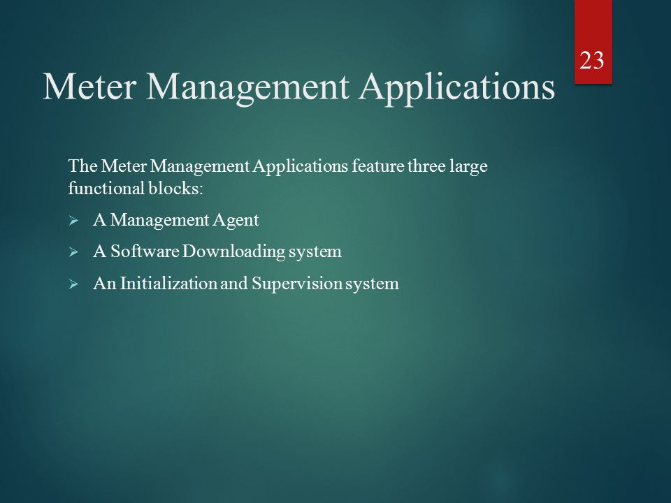 Meter Management Applications