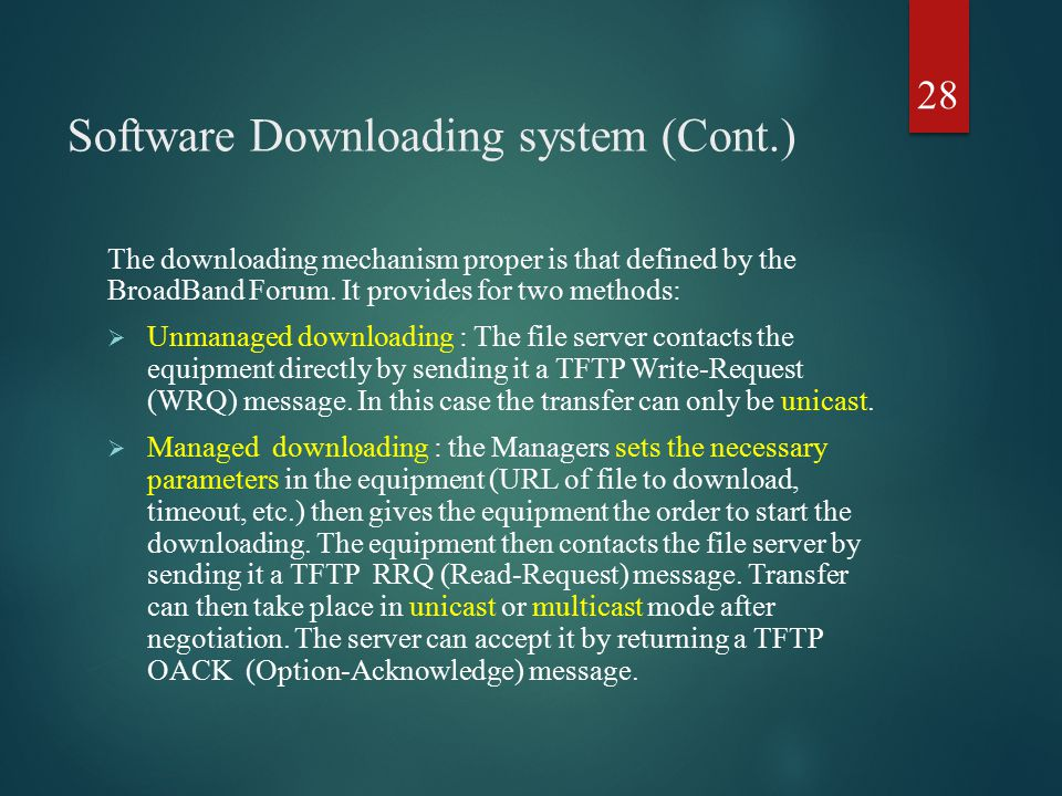 Software Downloading system (Cont.)