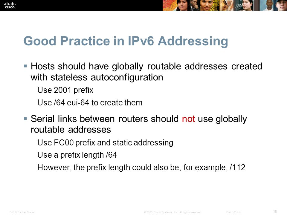 Good Practice in IPv6 Addressing