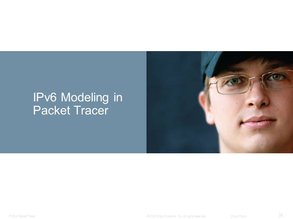 IPv6 Modeling in Packet Tracer