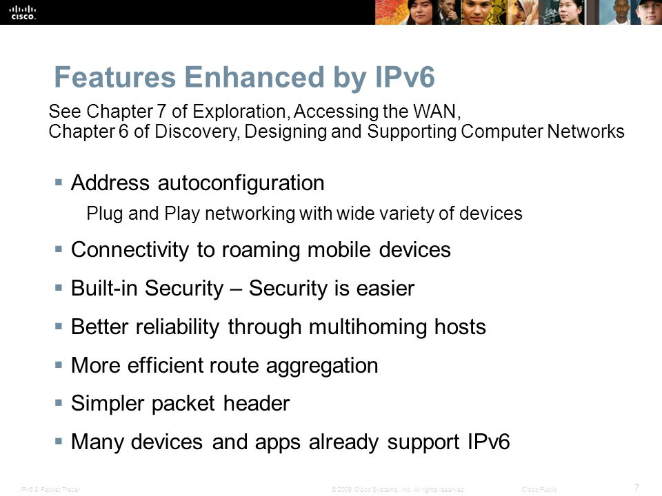 Features Enhanced by IPv6
