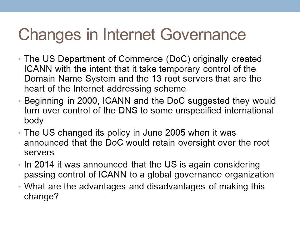 Changes in Internet Governance