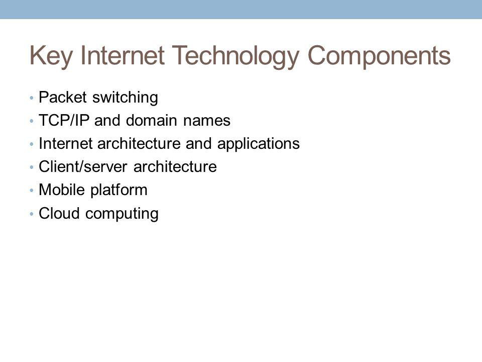Key Internet Technology Components