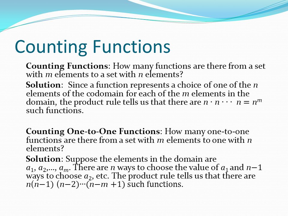 Counting Functions