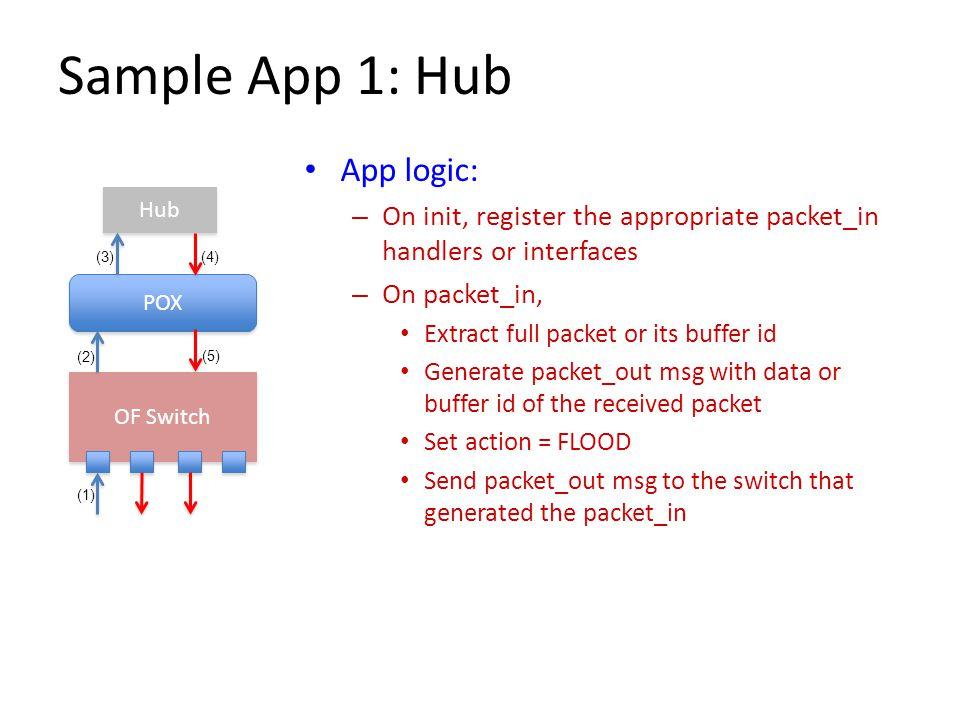 Sample App 1: Hub App logic: