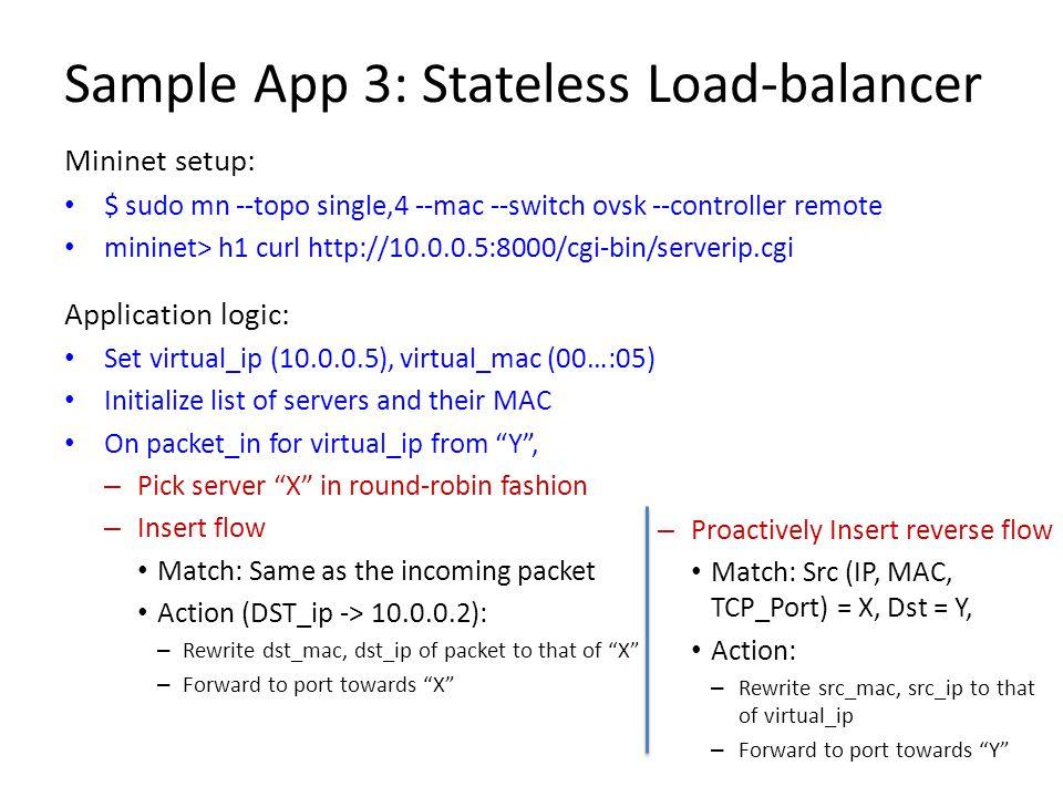 Sample App 3: Stateless Load-balancer